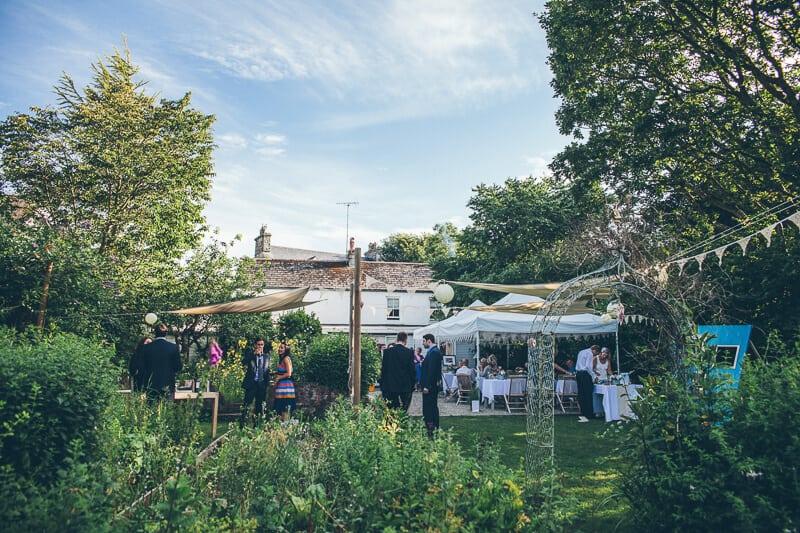 garden wedding party summer llys meddyg newport pembrokeshire