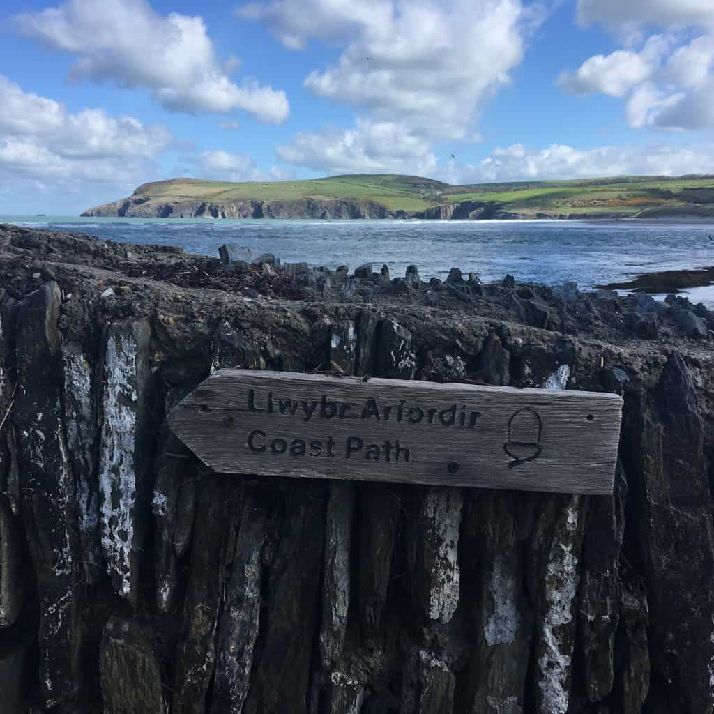 newport pembrokeshire coast path sign