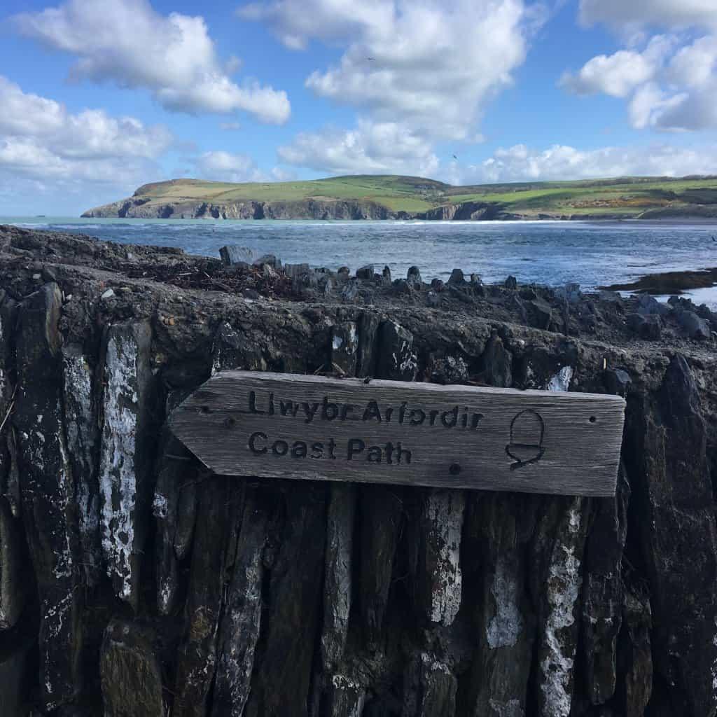 newport pembrokeshire coast path sign