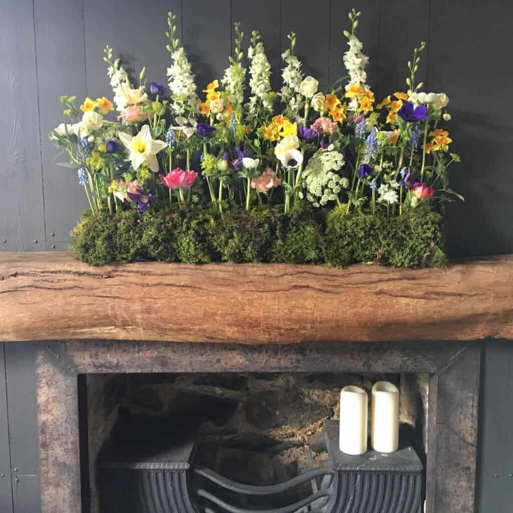 fresh local newport Pembrokeshire flowers springtime decor llys meddyg