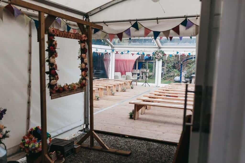 kitchen garden wedding ceremony llys meddyg newport pembrokeshire