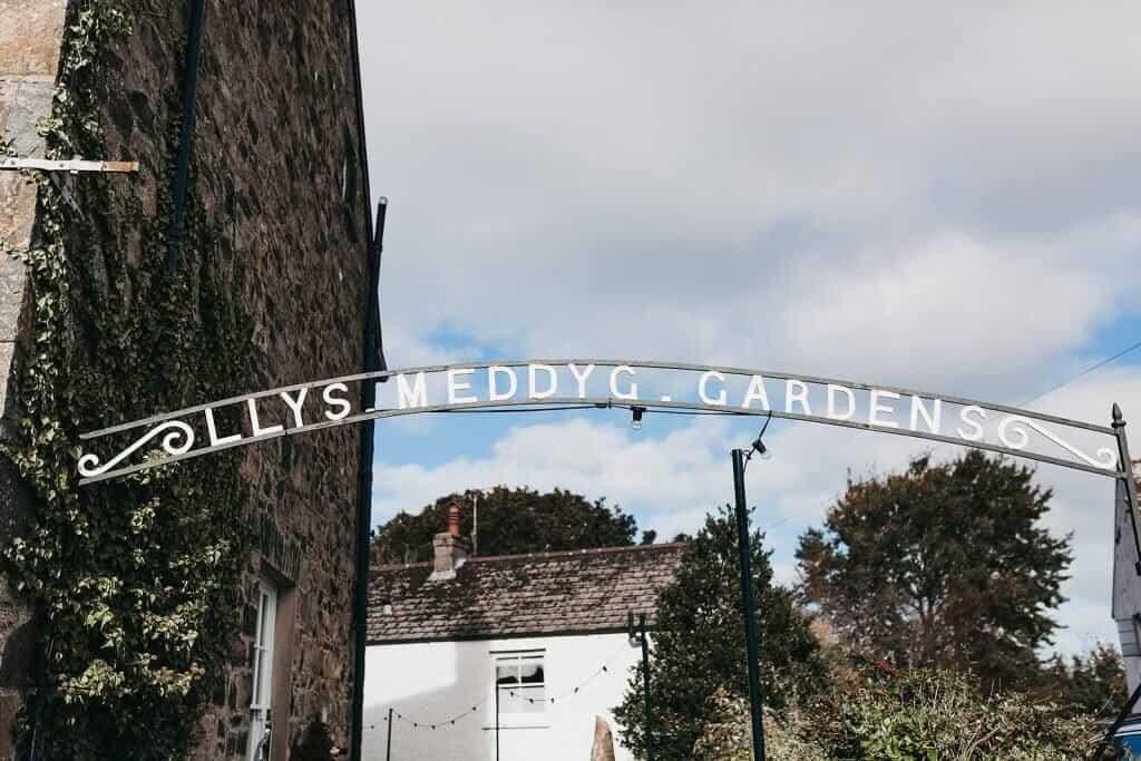 llys meddyg garden sign newport pembrokeshire